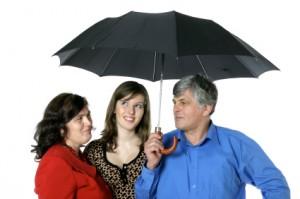 family-under-unbrella